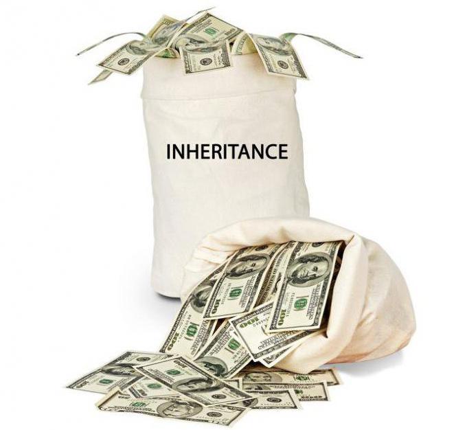 Денежные средства на счетах в банке по наследству