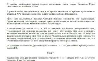 Иск о восстановлении срока принятия наследства украина