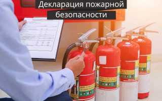Декларация пожарной безопасности детского сада образец