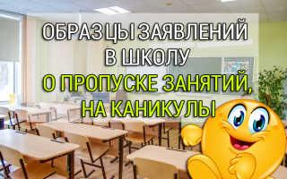 Образец заявления в школу об отсутствии ребенка