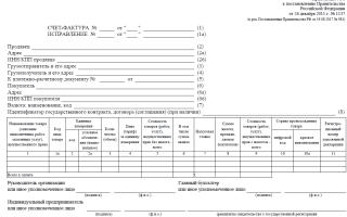 Образец заполнения счета фактуры на товар