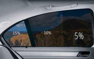 Затемнение стекол авто