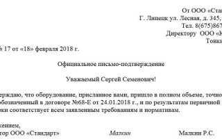 Письмо организации в организацию образец
