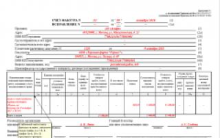 Счет фактура на предоплату образец