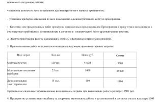 Акт приемки электромонтажных работ образец