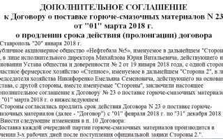 Дополнительное соглашение о продлении договора займа образец