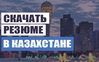 Как писать резюме образец в казахстане