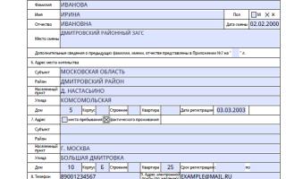 Правила заполнения анкеты на загранпаспорт нового образца